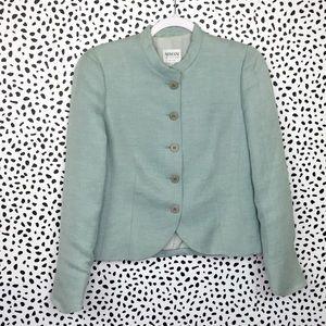 Armani Collezioni Linen Blend Jacket Size 6